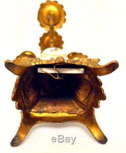 French hand painted porcelain gilt bronze Candelabra four arm