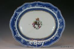 GIANT Chinese Armorial Porcelain PLATE PLATTER Export QING QIANLONG export vase