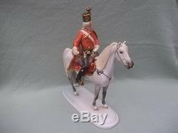 HEREND, HUSSAR (Huszar) on HORSE 13, HAND PAINTED PORCELAIN FIGURINE, Hungary