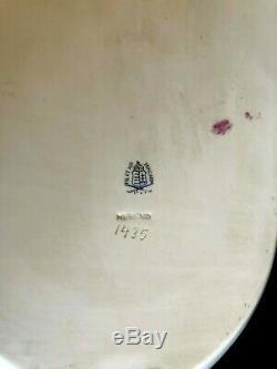 HEREND PORCELAIN HANDPAINTED ANTIQUE DESSERT PLATES + SERVING TRAY 1943 11pcs