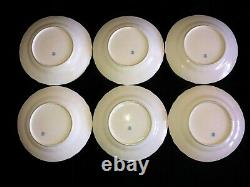 HEREND PORCELAIN HANDPAINTED ANTIQUE DINNER PLATES FROM 1943' (6 pcs.)