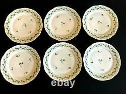 HEREND PORCELAIN HANDPAINTED PERSIL PATTERN DINNER, DESSERT, SOUP PLATES(24pcs.)