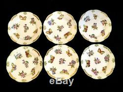 HEREND PORCELAIN HANDPAINTED QUEEN VICTORIA DESSERT PLATE 514/VBO (6pcs.)