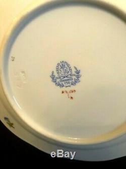 HEREND PORCELAIN HANDPAINTED QUEEN VICTORIA DESSERT PLATES 517/VBO (6pcs.)