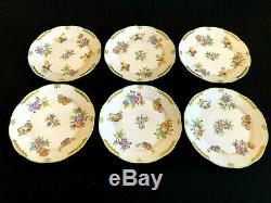 HEREND PORCELAIN HANDPAINTED QUEEN VICTORIA LARGE DESSERT PLATE 521/VBO (6pcs.)