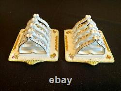 HEREND PORCELAIN HANDPAINTED QUEEN VICTORIA RARE TOAST HOLDER 449/VBO (2pcs.)