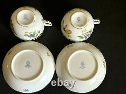 HEREND PORCELAIN HANDPAINTED QUEEN VICTORIA TEA CUP AND SAUCER (2pcs.) NEW