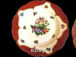 HEREND PORCELAIN HANDPAINTED RARE LARGE DINNER PLATES FROM 1942 (6 pcs.)