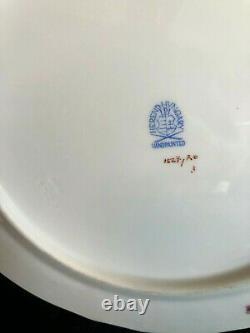 HEREND PORCELAIN HANDPAINTED ROTHSCHILD DESSERT PLATES + SERVING TRAY (7pcs.)