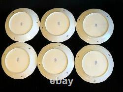 HEREND PORCELAIN HANDPAINTED ROTHSCHILD DINNER PLATES 524/RO (6pcs.)