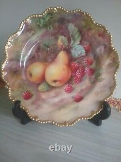 Hand painted royal worcester fruit plate