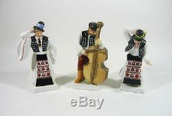 Herend, Bridal Party, Wedding Collection Of 13 Handpainted Porcelain Figurines