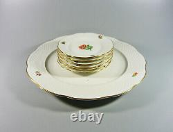 Herend, Dessert Service For Six, Handpainted Porcelain! (bt023)