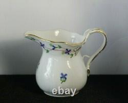 Herend Hand Painted Porcelain Blue Garland Coffee Tea Pot Sugar & Creamer