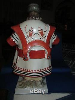 Herend Porcelain Figurine Beautiful Hungarian Man Hussar, 13 Tall Hand Painted