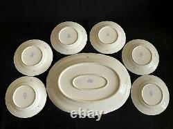 Herend Porcelain Handpainted Green Chinese Bouquet Dessert Plate + Serving Tray