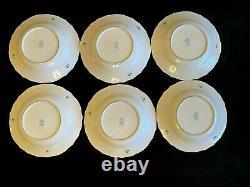 Herend Porcelain Handpainted Indian Basket Green Large Dessert Plates 1520/fv