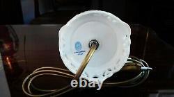 Herend Porcelain Handpainted Indian Basket Raspberry Lamp (new Lampshade)