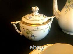 Herend Porcelain Handpainted Morning Glory Nyon Mocha Set For 2 Persons New
