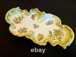 Herend Porcelain Handpainted Queen Victoria Baroque Serving Tray 7517/vbo