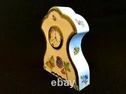 Herend Porcelain Handpainted Queen Victoria Clock 8085/vba New