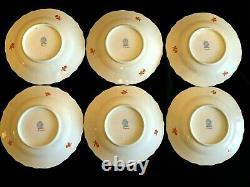 Herend Porcelain Handpainted Queen Victoria Fortuna Dessert, Dinner, Soup Plates