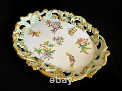 Herend Porcelain Handpainted Queen Victoria Rare Serving Tray 7495/vbo