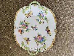 Herend Porcelain Handpainted Queen Victoria Serving Platter 430/vbo