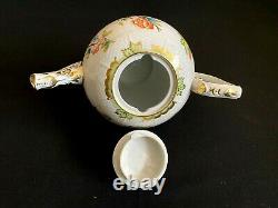 Herend Porcelain Handpainted Queen Victoria Tea Pot 602/vbo From 1950