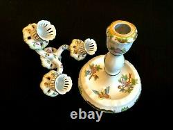 Herend Porcelain Handpainted Queen Victoria Three Light Candle Holder 7915/vbo
