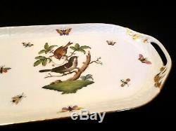 Herend Porcelain Handpainted Rothschild Large Serving Tray 435/ro New