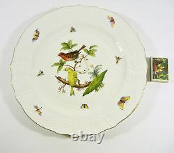 Herend, Rothschild Bird (ro) Dessert Service Six, Handpainted Porcelain