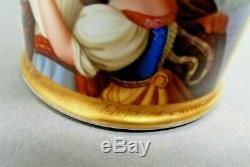 KPM Cup Saucer Porcelain Berlin Portrait Ram Head Hand Painted Antique 19th C