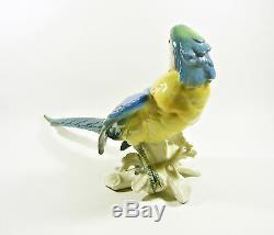 Karl Ens Volkstedt Macaw Parrot Bird 14, Antique Handpainted Porcelain Figurine