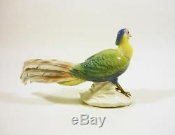 Karl Ens Volkstedt Pheasant Bird 6.7, Vintage Handpainted Porcelain Figurine