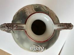 Large Hand Painted Nippon Moriage Dragon Vase