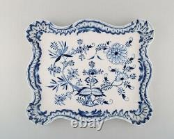 Large antique Meissen Blue Onion serving tray in hand-painted porcelain