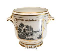 Limoges France Hand Painted Porcelain Cache Pot, circa 1920