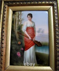 Meissen KPM Porcelain Plaque Hand painted Berlin 1891 Lady, Superb