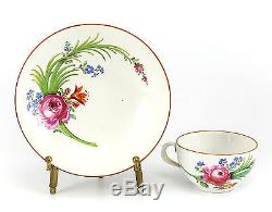 Meissen (Marcolini) Porcelain Cup & Saucer, c1800 Century Hand Painted