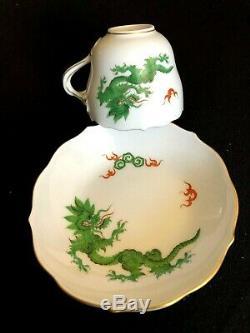 Meissen Porcelain Handpainted Rare Mocha Cup And Saucer