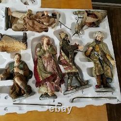 Members Mark 2005 RARE Nativity Set Hand Painted Porcelain Figurines READ