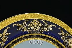 Minton Porcelain Charger Hand Painted View of Windsor Castle and Raised Gold