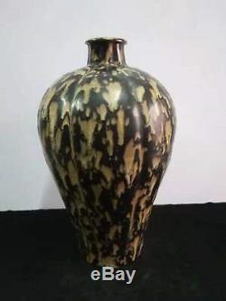 Mysterious Chinese Antique Porcelain Vase Pot Black Glaze Home Decoration