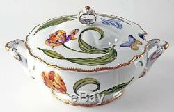 NEW Anna Weatherley Hand-Painted Porcelain-Old Masters Tulips Round Soup Tureen