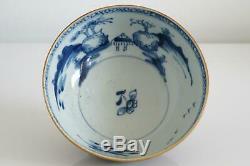 Nanking Cargo Chinese Shipwreck Batavian Landscape Bowl Qianlong c. 1750