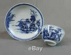 Nanking Chinese Shipwreck Cargo Pagoda Riverscape Tea Bowl and Saucer c1750