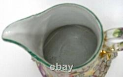 Nippon Moriage Pitcher 7 Royal Moriye, Heavy Relief, Hand Painted Roses Antique