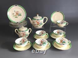 Noritake, Morimura Bros. ART DECO porcelain tea set hand painted Japan c. 1930's