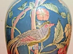 Pair (2) Vintage Frederick Cooper Hand Paint Porcelain Table Lamps